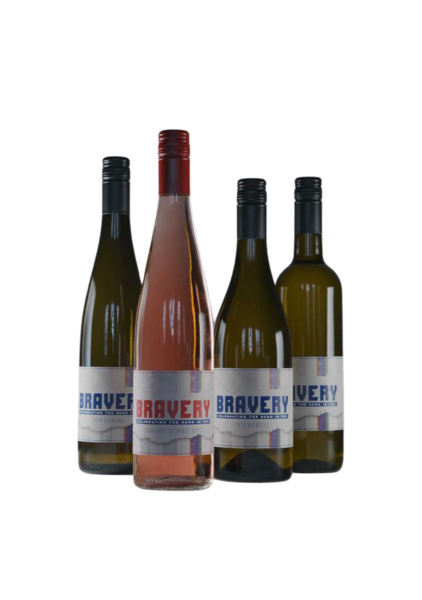 Bravery Wines - 4 Pack - with 2020 Rose' of Pinot Noir