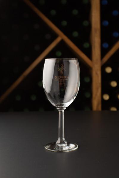 Newby Farm + Vineyard wine glass