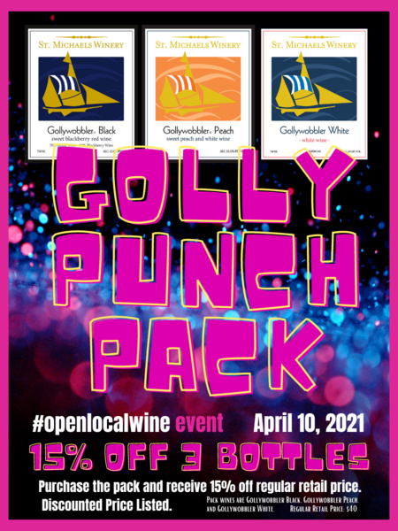 #openlocalwine - April 10 EVENT - Golly Punch Pack SALE