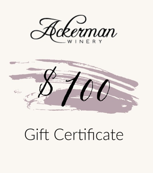 Product Image for $100 Ackerman Winery Gift Certificate
