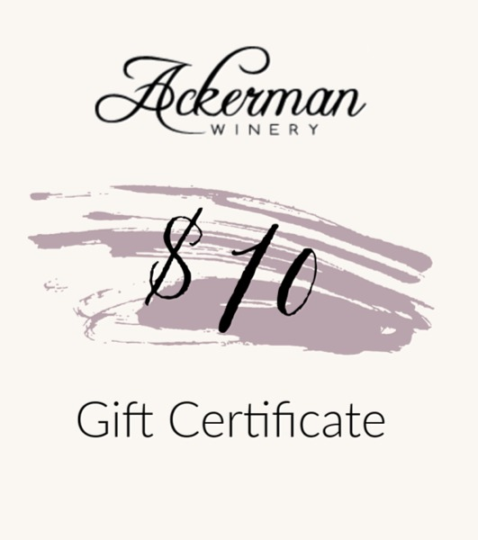 Product Image for $10 Ackerman Winery Gift Certificate