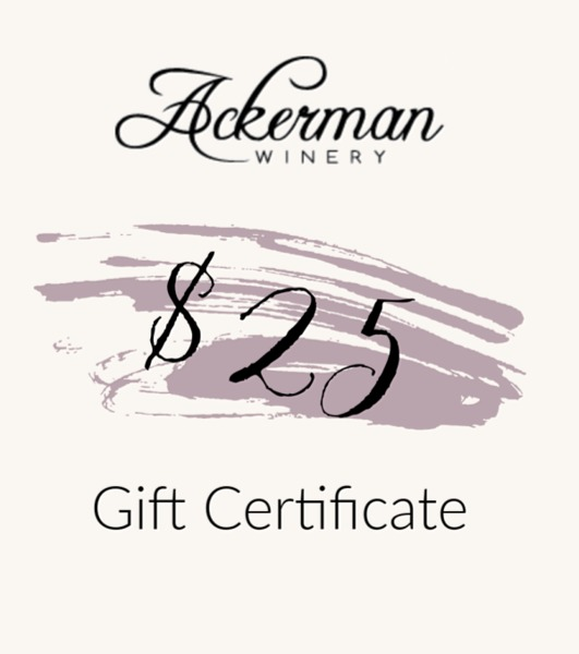 Product Image for $25 Ackerman Winery Gift Certificate
