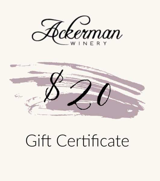 Product Image for $20 Ackerman Winery Gift Certificate