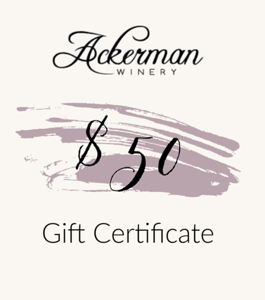 Product Image for $50 Ackerman Winery Gift Certificate