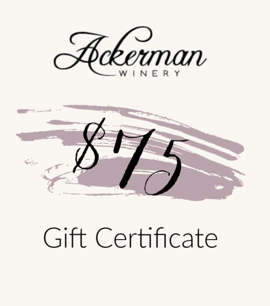 Product Image for $75 Ackerman Winery Gift Certificate