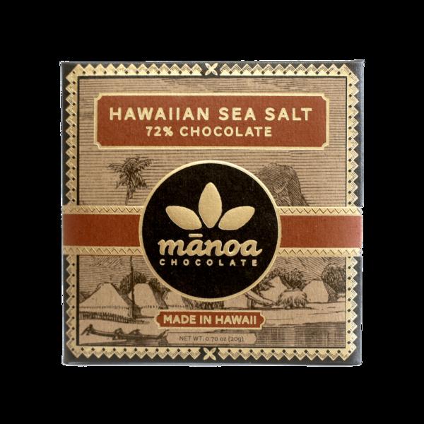Manoa Chocolate Hawaiian Sea Salt 72% Mini Bar