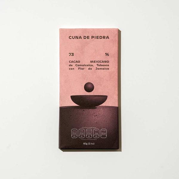Cuna de Piedra 73% Dark Chocolate with Hibiscus Flowers