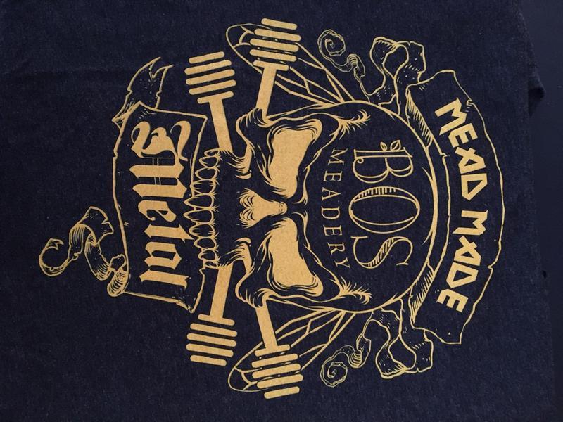 Mead Made Metal Yellow Logo Short Sleeve T-Shirt