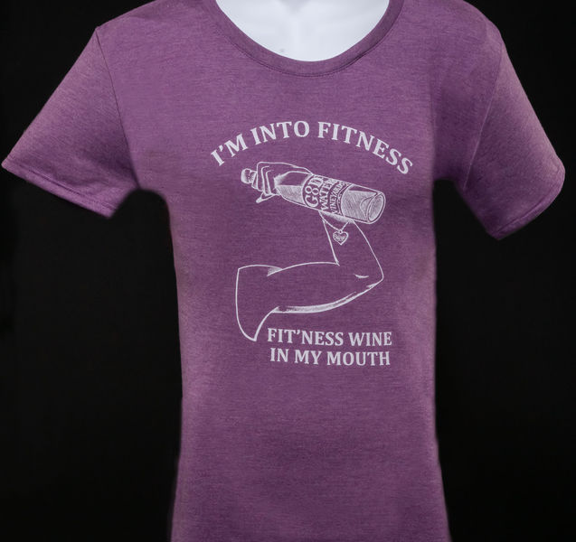Fitness Wine In My Mouth T-shirt purple