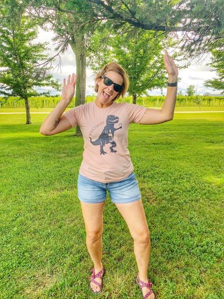 Pink Winosaur T-Shirt LARGE