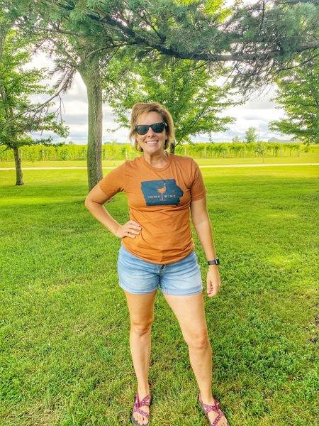 Brown Iowa Wine T-Shirt SMALL