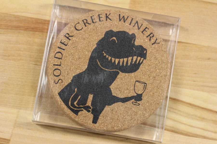 Winosaur Coasters, set of 4